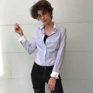 Zara Basic women's button down blouse